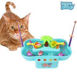 해피플레이 고피싱 움직이는 고양이 낚시대 장난감 용품