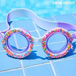 스윔어바웃 어린이 물안경 아동 수경 도넛 바이올렛
