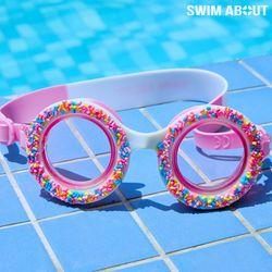 스윔어바웃 어린이 물안경 아동 수경 도넛 핑크