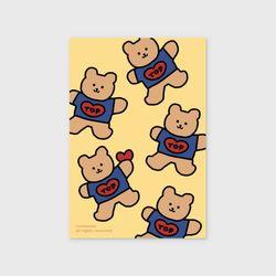 [예약판매 12/31순차배송] Bear heart-creamyellow(엽서)