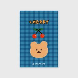 Cherry bear-blue(엽서)