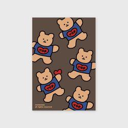Bear heart-brown(엽서)