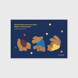 Rolling bear-navy(엽서)