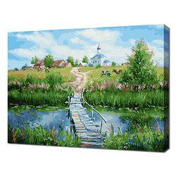 [명화그리기]4050 에이번리 마을의 여름-교회가는 길 28색 풍경