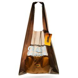 크래쉬 배기지 숄더백 PLAC BAG PVC 2 IN 1 백 BLACK