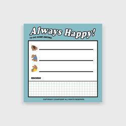 Always happy(떡메모지)