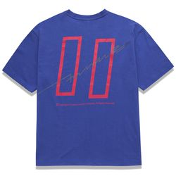 COVERMENT SIGNATURE LOGO PRINT OVER-FIT TEE ROYAL BLUE