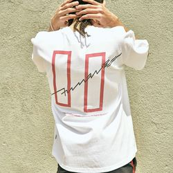 COVERMENT SIGNATURE LOGO PRINT OVER-FIT TEE WHITE