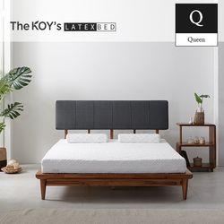 베네치아 천연라텍스 아카시아 원목 침대 퀸