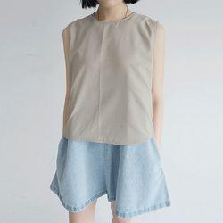 soft texture round vest (2colors)