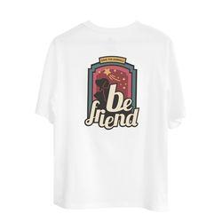 유기묘 유기견 기부 비프렌드 티셔츠 MOONLIGHT 화이트