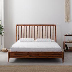 카멜리 아카시아 원목 침대 프레임 퀸