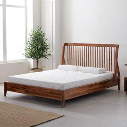 라노체 유럽라텍스 카멜리 아카시아 원목 침대 퀸