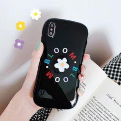 아이폰 심플 플라워 유광 범퍼 실리콘 소프트 케이스
