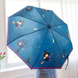 A0481 꼬마마녀 3단 자동우산