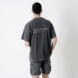 Connect Pigment Over Tee Drak gray