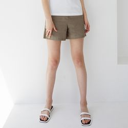 BEAN LINEN SHORT PT (ASH BROWN)