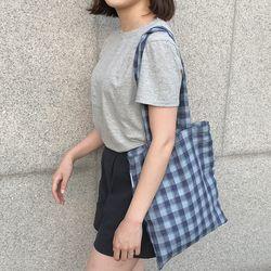 Linen summer navy blue bag. ( hand made )