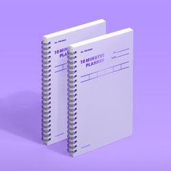 텐미닛 플래너 100DAYS 컬러칩 - 바이올렛 2EA