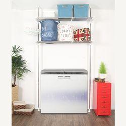아도라하우스 기둥접이식 폭조절 세탁기김치냉장고 선반 2단