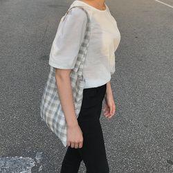 Linen summer grey bag. ( hand made )