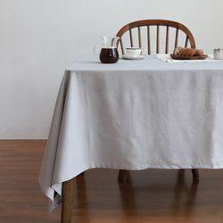 린넨 발수 식탁보 테이블커버 피크닉매트 블루그레이 2인용