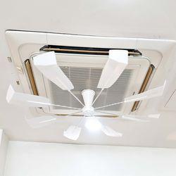 천장형 에어컨 시스템 무동력 공기 순환 바람개비 실프팬