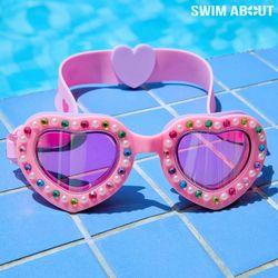 스윔어바웃 어린이 물안경 아동 수경 코코하트-핑크