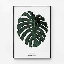대형 메탈 식물 모던한 인테리어 액자 몬스테라 나뭇잎