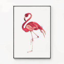 대형 메탈 동물 그림 인테리어 포스터 액자 플라밍고