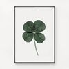 대형 메탈 식물 인테리어 현관 그림 액자 네잎 클로버 행운