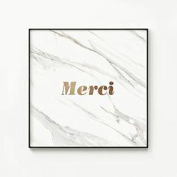 메탈 레터링 디자인 감성 포스터 액자 마블 메르시