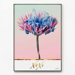 대형 메탈 인테리어 북유럽 꽃 디자인 포스터 액자 데이지
