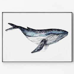 대형 메탈 동물 북유럽 포스터 그림 아이방 액자 고래 ver4