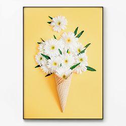 대형 메탈 식물 꽃 감성 포스터 그림 인테리어 액자 카모마일