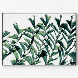 대형 메탈 식물 풍경 인테리어 포스터 액자 그린 그린