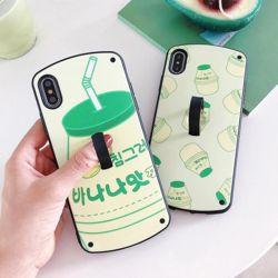 아이폰 바나나유유 패턴 소프트 거치대 휴대폰 케이스