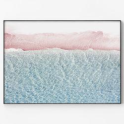 대형 메탈 바다 해변 풍경 그림 인테리어 포스터 액자 파도 ver2
