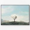 대형 메탈 풍경 일러스트 그림 인테리어 액자 구름 나무