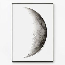 대형 메탈 풍경 달 우주 아이방 그림 인테리어 액자 반달