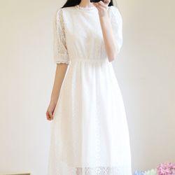 소녀감성 셀프 웨딩 드레스 원피스 6size