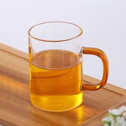 포인트 유리 머그잔(오렌지)
