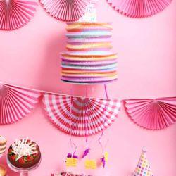 케익모양 파티 피나타 (유니콘)