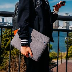 A18 맥북 아이패드 노트북 파우치 13인치-13.5인치 그레이