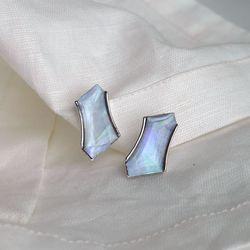 다각형 자개 귀걸이 polygon shell earring