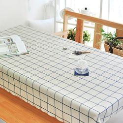 유키노 린넨 방수식탁보(네이비-2인110cm)