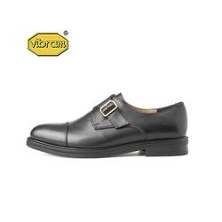 BLACK LEATHER MONK STRAP BLACK
