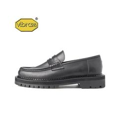 BLACK OVER SOLE PENNY LOAFERS BLACK