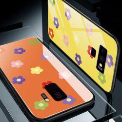 아이폰 플라워 패턴 강화유리 범퍼 하드 휴대폰케이스