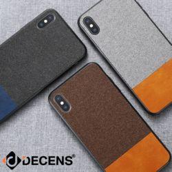 데켄스 M583 아이폰 가죽 패브릭 믹스 핸드폰 케이스